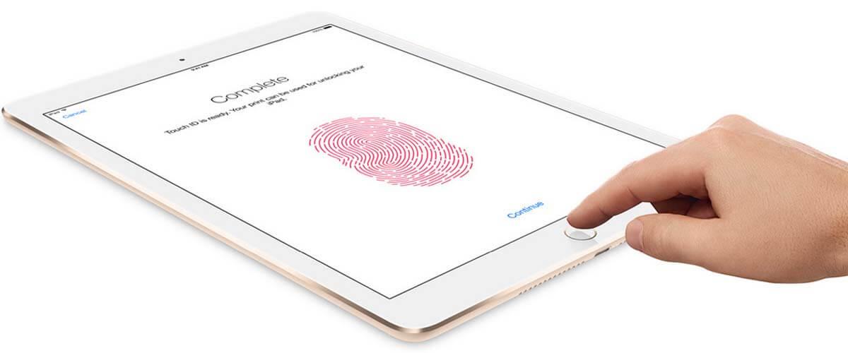 iPad Air 2 Touch ID ontgrendelfunctie