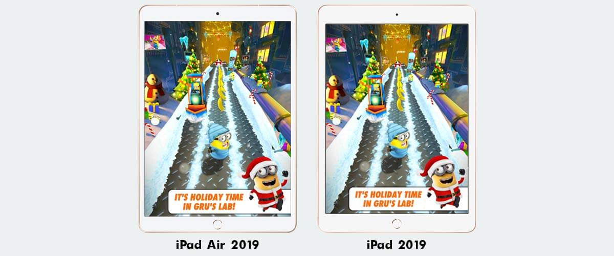 iPad Air 2019 vs iPad 2019 beeldscherm