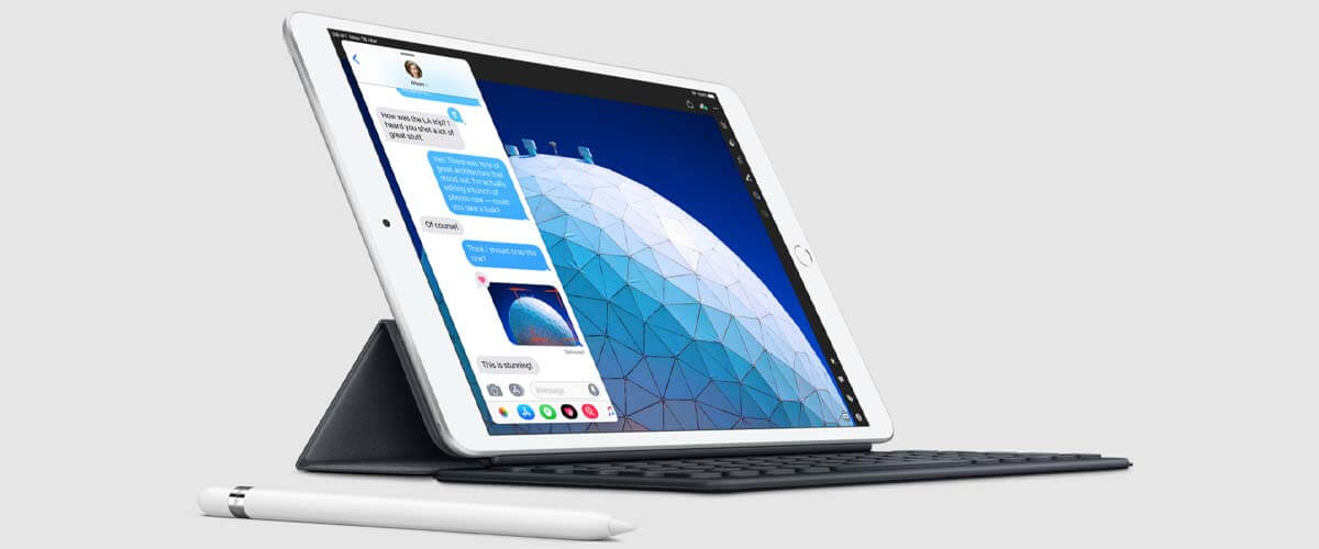iPad Air 2019 met Smart Keyboard en Apple Pencil