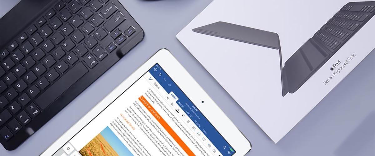 iPad met Smart Keyboard en Bluetooth toetsenbord