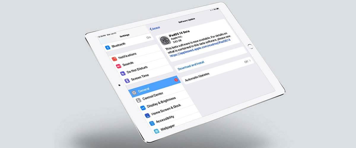 Apple iPad updaten naar iPadOS
