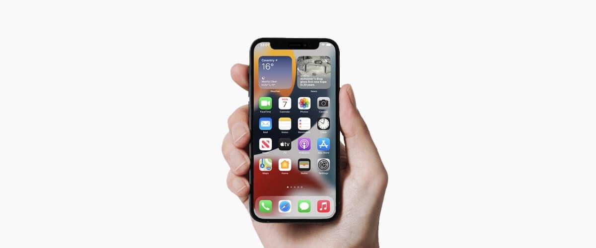 iPhone met 5.4-inch beeldscherm formaat