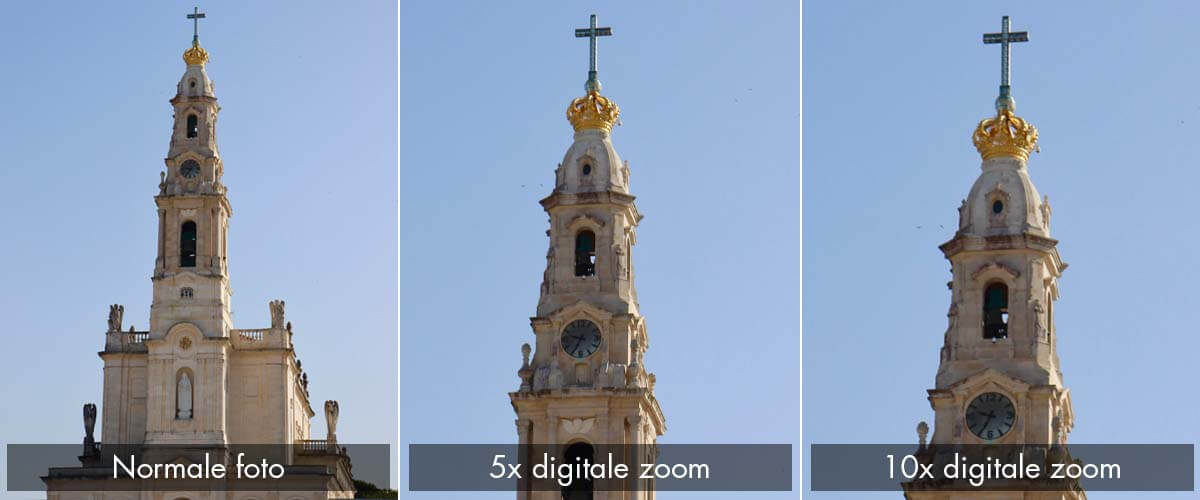 Digitale zoom verschil camera iPhone XS vs 11