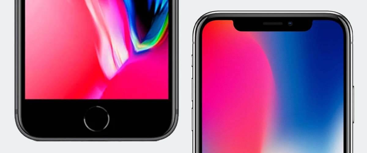 Ontgrendelverschil iPhone X vs iPhone 8