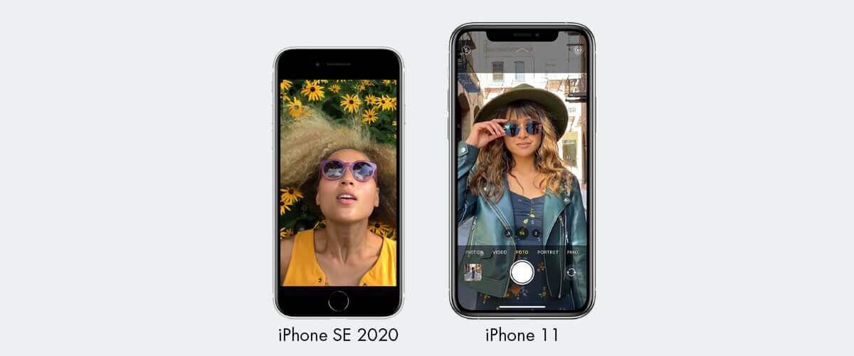 Fotocamera iPhone SE 2020 en iPhone 11