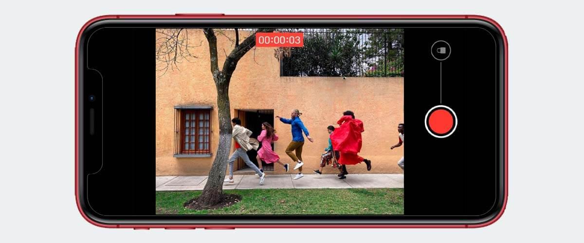 QuickTake functie iPhone 11 camera