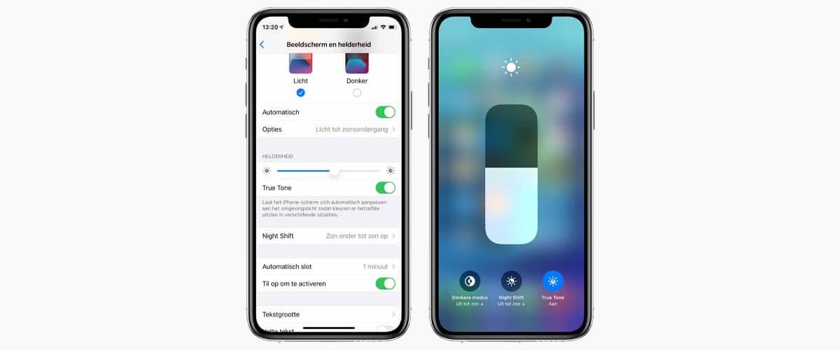 True Tone iPhone instellen