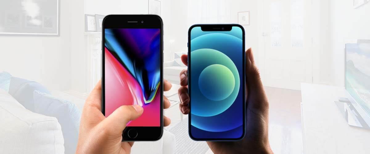 Formaat iPhone 12 Mini vs iPhone 8