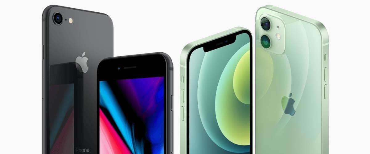 Uiterlijk iPhone 8 vs iPhone 12