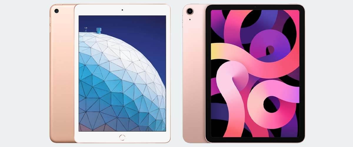 Uiterlijk verschil iPad Air 2019 en 2020