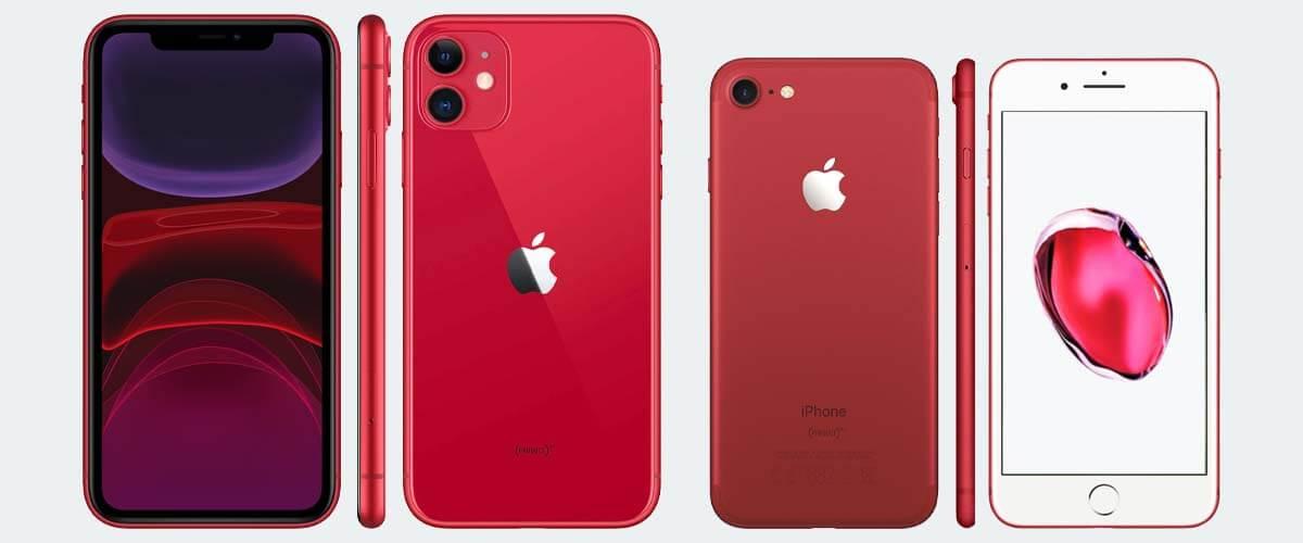 Uiterlijk verschil iPhone 11 vs iPhone 7