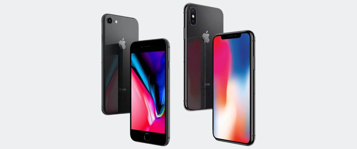 Uiterlijk verschil iPhone 8 en X