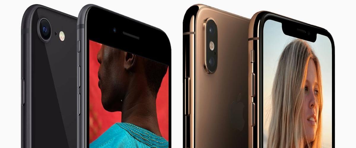 Uiterlijk verschil iPhone 8 vs iPhone XS