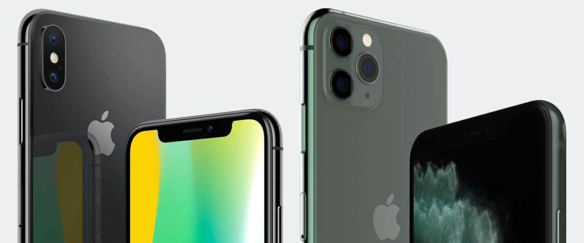 Uiterlijk verschil iPhone x en 11 Pro