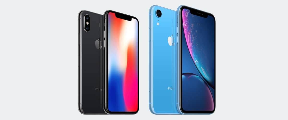 Uiterlijk verschil iPhone X en XR
