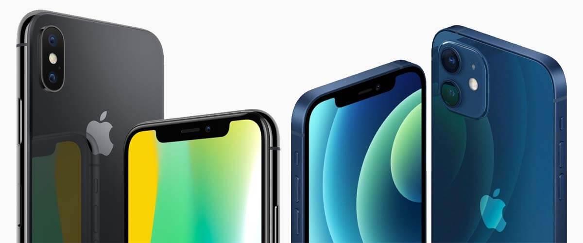 Uiterlijk verschil iPhone X vs iPhone 12