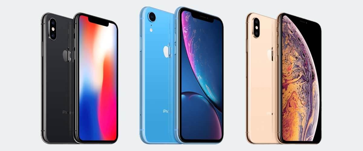 Uiterlijk verschil iPhone X en XR en XS