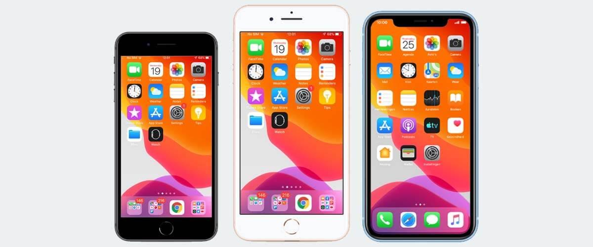 Welke iPhone kopen op basis van beeldschermformaat