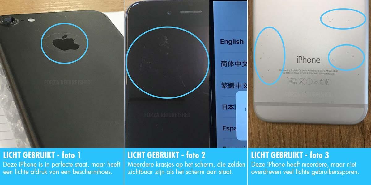 Refurbished iPhone licht gebruikt