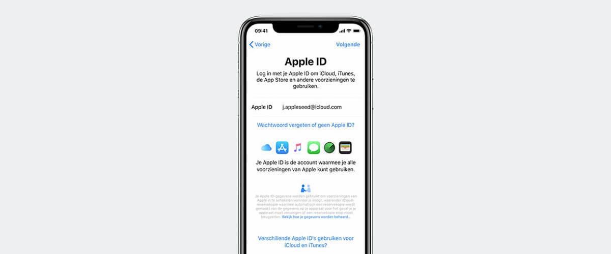 Apple ID inloggen of instellen