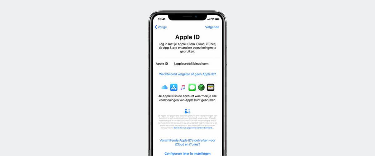 Inloggen met Apple ID