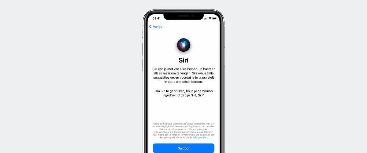 Siri spraakassistent instellen