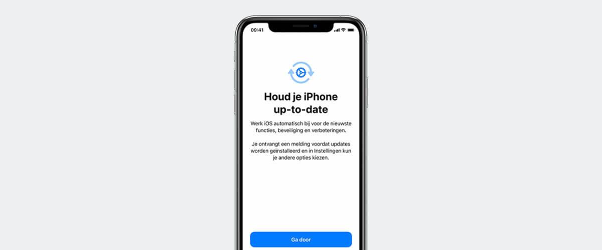 Automatische updates inschakelen op iPhone