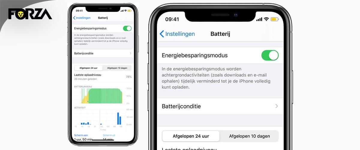 Batterij iPhone snel leeg door achtergrondactiviteiten