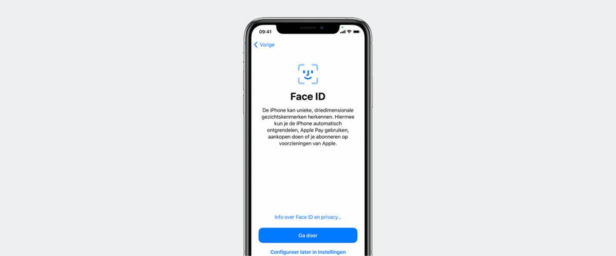 Face ID instellen op iPhone