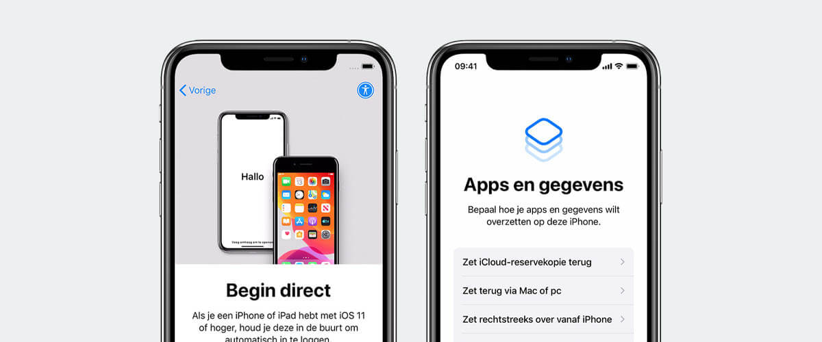 iPhone met Quick Start installeren