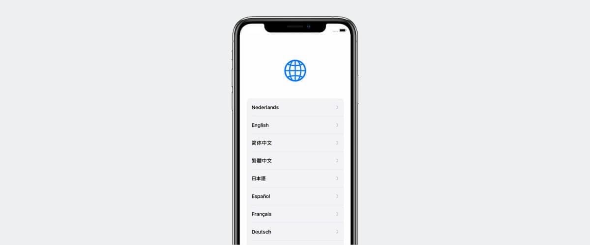 Land en taal iPhone instellen