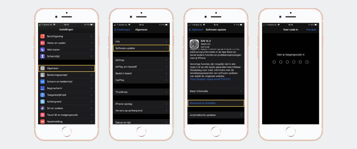 Software updaten via iPhone/iPad