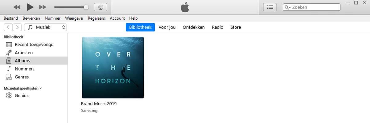 Audiobestanden naar iTunes slepen