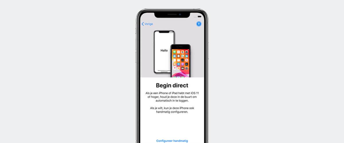 iPhone handmatig configureren
