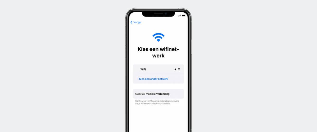 iPhone met netwerk verbinden
