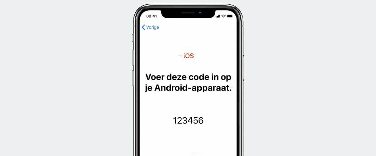 Code overzetten gegevens van Android naar iPhone