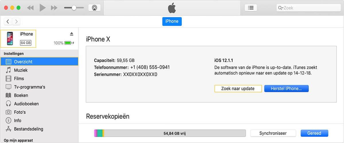 Software updaten via iTunes