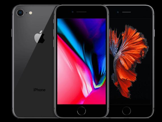 iPhone 6S en iPhone 8