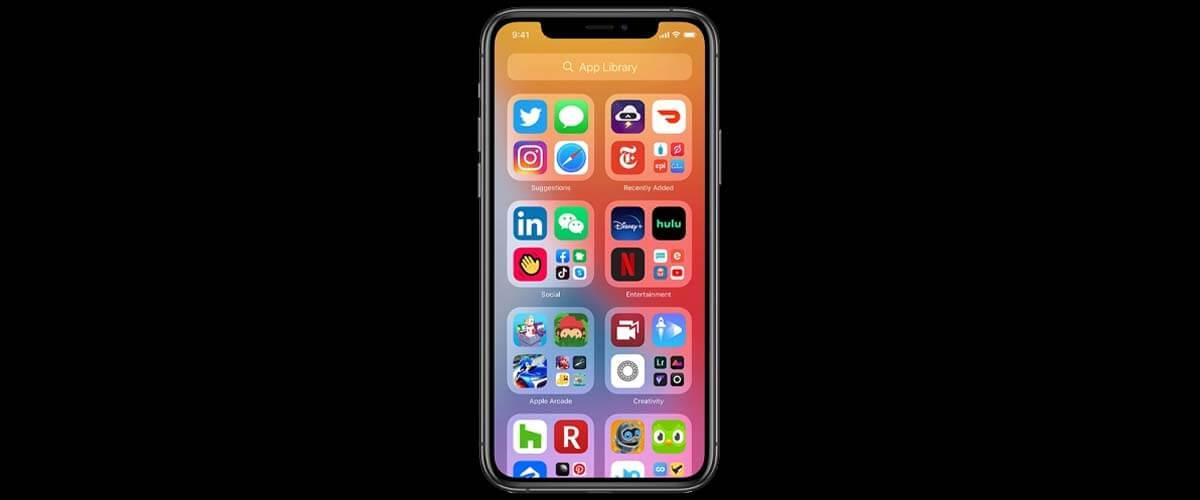 App bibliotheek iOS 14