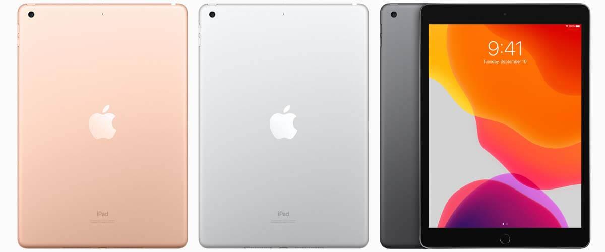 iPad 2019 Gold, Silver en Space Grey