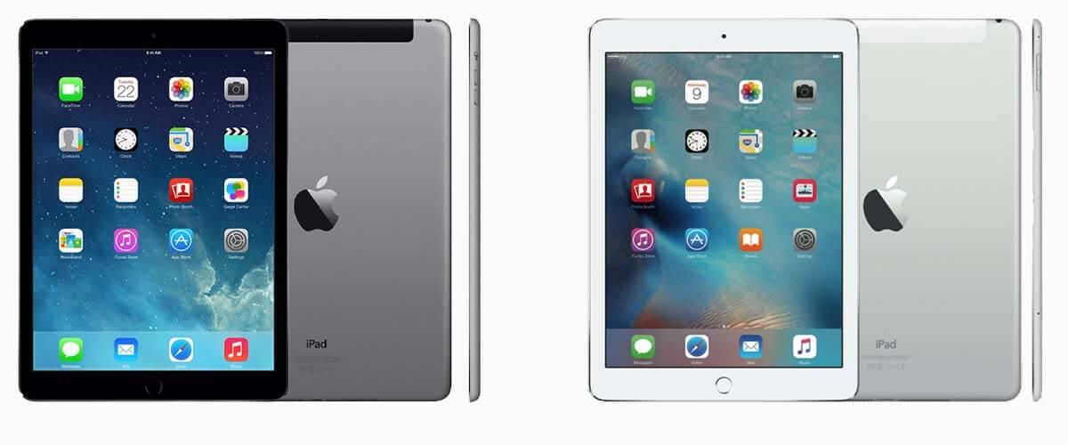 iPad Air 1 en iPad Air 2