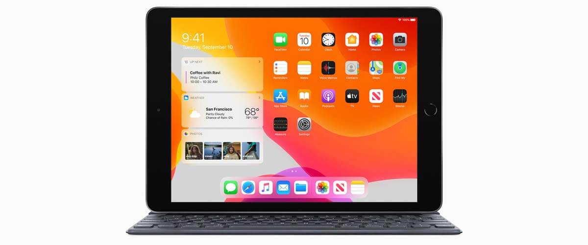 10.2 inch beeldscherm en toetsenbord iPad 2019