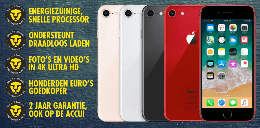 voordelen refurbished iPhone 8 t.o.v. nieuw