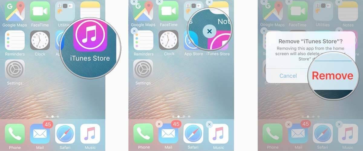 App verwijderen van iPhone