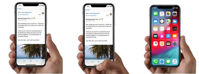 iPhone X beginscherm