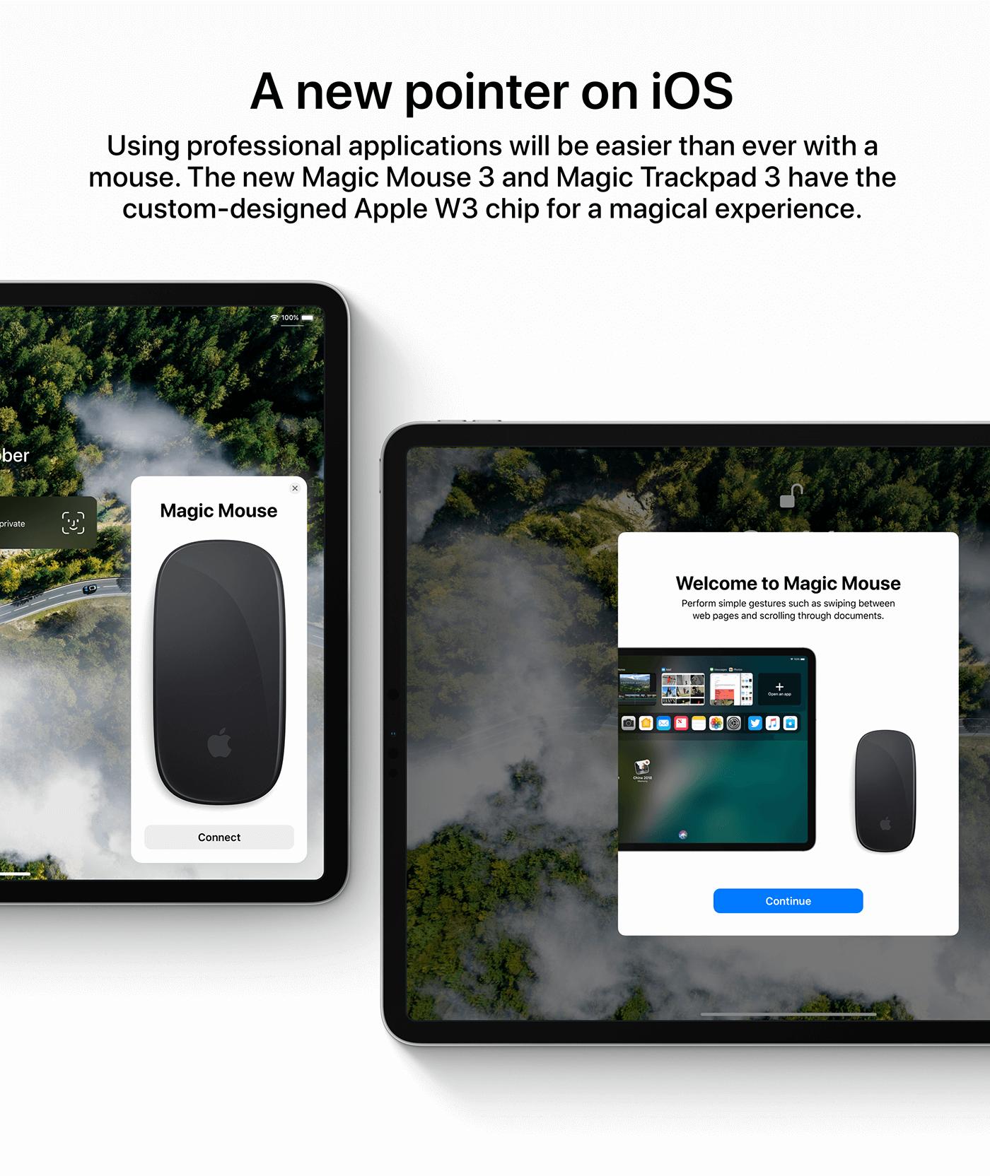 iPad met muis