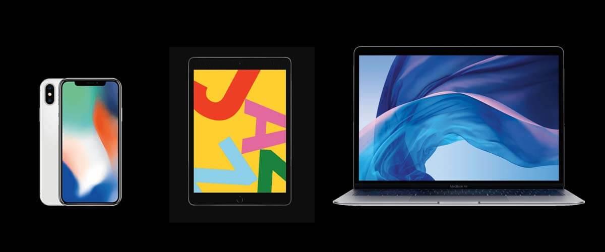 Refurbished iPhone X, iPad 2019 en MacBook Air