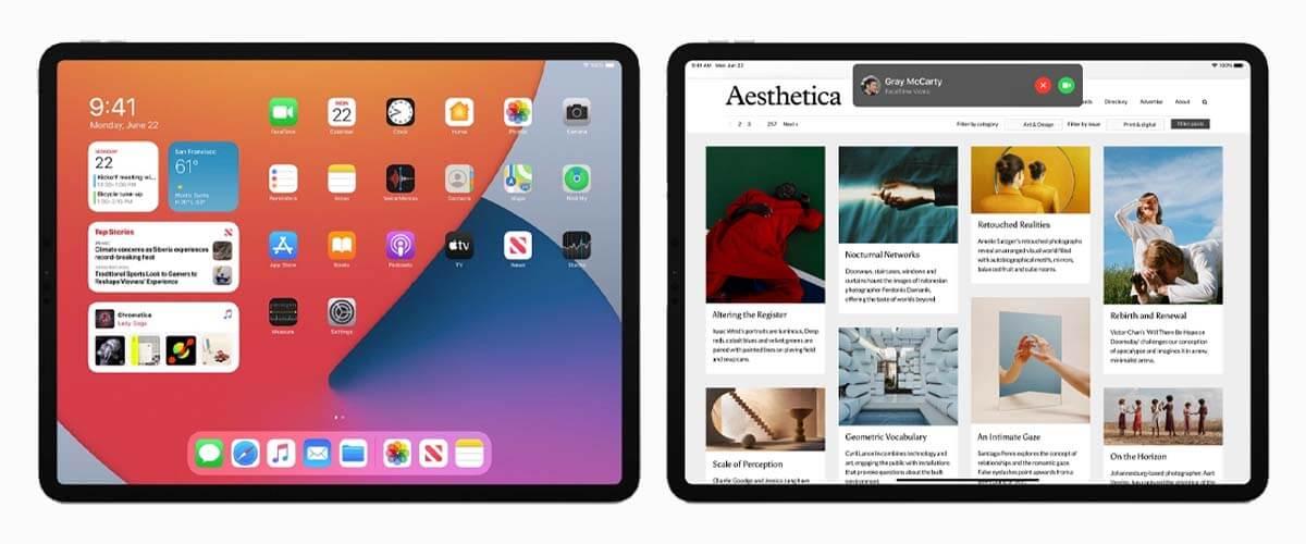 widgets en belweergave in iPadOS 14